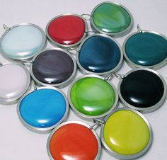 Glass Pendant Wholesale Lot  8 SOLID melted glass by SwansonGlass, $100.00