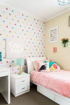 Girls Room Design, Home Room Design, Girl Bedroom Designs, Small Room Bedroom, Girls Bedroom, Bedroom Decor, Baby Girl Bedroom Ideas, Bedroom Yellow, Cute Room Decor
