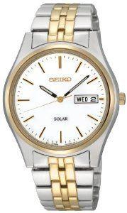 #Seiko Sne032 Two Tone Solar White  women watch #2dayslook #alex2578923  www.2dayslook.com