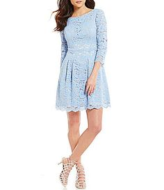 Vince Camuto 34 Lace FitandFlare Dress #Dillards