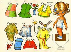 Recortables de muñecas para vestir | Dibujos para recortar y colorear