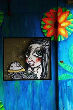 """Cupcake Girl"" in Los Angeles, CA. 3APR13."
