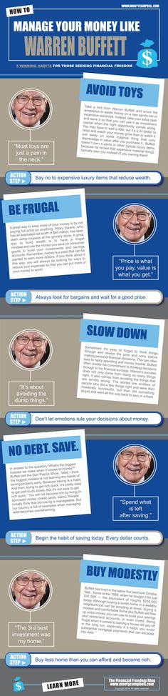 Warren Buffet infographic. God - please grant me the willpower for resisting consumerism