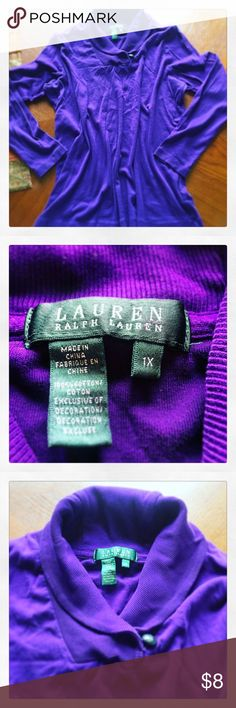 ✳️ Ralph Lauren Sweater Purple Size L. All my items are sold AS IS. Please remember that it is used unless otherwise stated. Ralph Lauren Sweaters