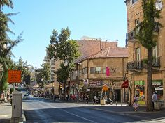 Jerusalem, Israel - Scenic View, King George Street neighborhood (רחוב המלך ג'ורג)
