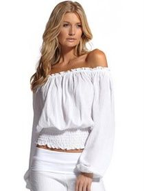 White Off The Shoulder Knit Top Dreamgirl 8358