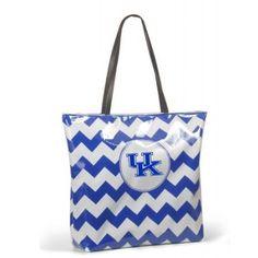 Kentucky Wildcats Chevron Print Shopper Tote