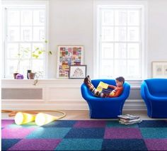 FLOR carpet tiles- a great eco choice plus it allows you to change your decor up when you feel like it! @FlorTiles