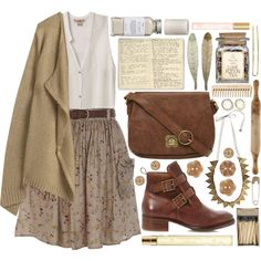 Vintage style, created by strayalley on Polyvore