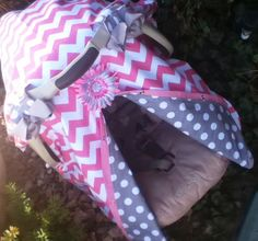 Chevron Stripe Carseat Canopy FREE Shipping Code Today By SooShabbyChic On Etsy Listing 178296937 Canop