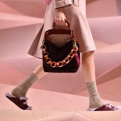 Pink dreams at Anya Hindmarch AW17 collection ______________________________________________________________ Repost: @anyahindmarch - Handmade leather straps inspired by paper chains | The show is now live at anyahindmarch.com and on Facebook #AnyaAW17 #LFW  #pink #pinkdream #pinkdreams #furry #pastels #leatherbag #runway #catwalk #fashionweek #straps #socks #sandals #socksandsandals  via VOLT MAGAZINE OFFICIAL INSTAGRAM - Celebrity  Fashion  Haute Couture  Advertising  Culture  Beauty…