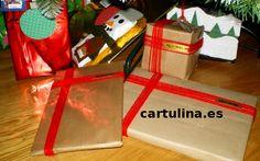 http://cartulina.es/navidad-manualidades-envolver-regalos/ Instrucciones paso a paso