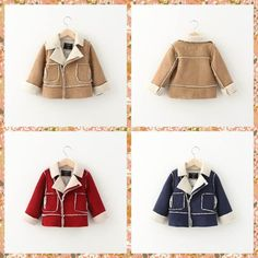 Western Fashion Babies Kids Suede Leather Fleece Lining Warm Christmas Jackets Outwears Candy Color Patchwork Zipper Warm Winter Coats From Smartmart, $85.74 | Dhgate.Com
