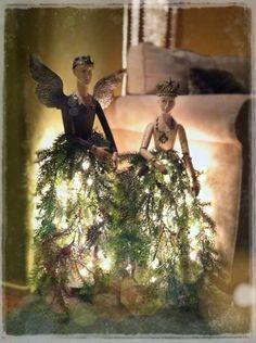 Christmas cage dolls