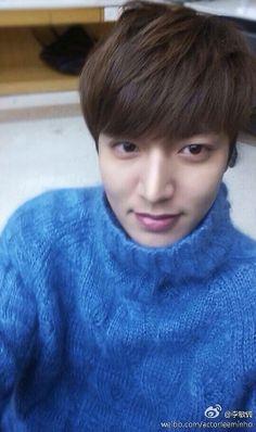 My MinHo is looking so handsome in blue <3