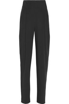 Temperley London Serenoa high-waisted stretch-silk tapered pants | pair with a cropped top and sandals.