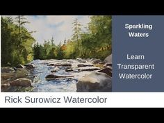 "Watercolor Tutorial, ""Sparkling Waters"" Narrated step by step Step By Step Watercolor, Watercolor Video, Watercolor Painting Techniques, Watercolour Tutorials, Watercolor Artists, Painting Videos, Watercolor Landscape, Watercolor Paintings, Watercolors"