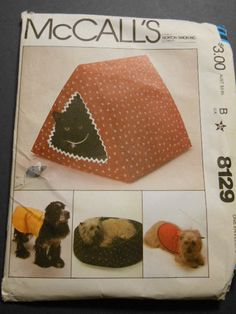 McCalls 8129 Cat Beds Dog coats 1415 by MadkDesigns on Etsy, $5.99