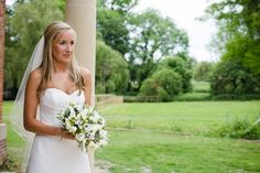 Bridal bouquet - rustic theme wedding at Lains Barn, Wantage - flowers & decor by Seventh Heaven Events  #seventhheavenevents
