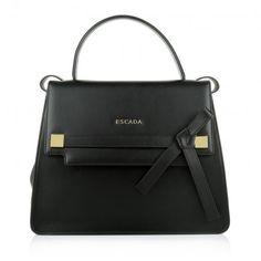Escada Tasche – Bos Taurus Large Handbag Black – in schwarz – Henkeltasche für Damen