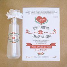 Convite Para Casamento Na Garrafa | ATELIER COLIBRI | 31E5B0 - Elo7
