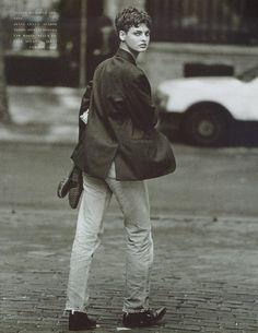Photos PETER LINDBERGH  Vogue IT - Linda - Linda Evangelista - Oct 1989