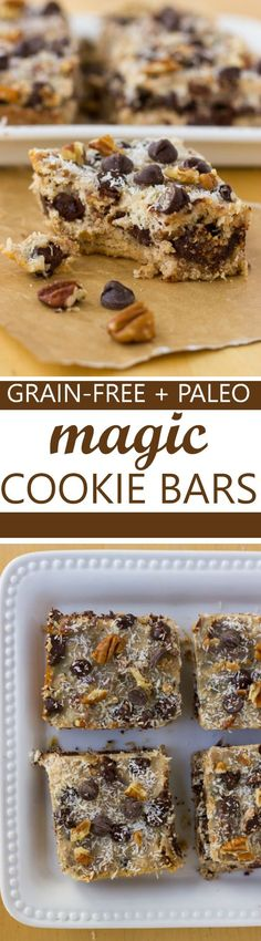 Grain-Free Magic Cookie Bars! An easy, paleo treat made with coconut milk sweetened condensed milk!