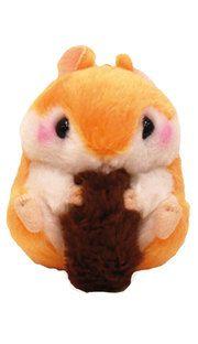 Amuse Koroham Coron squirrel small orange plush