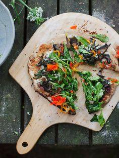 Sourdough Salad Pizza // My New Roots