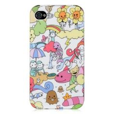 iPhone 4 /4S Crystal Rubber Case - Happy Playground