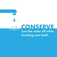 March 22nd is World Water day! Do your part to conserve water by turning off the faucet while brushing your teeth!