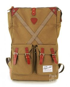 Рюкзак Pack n Roll Factor Backpack 25 oz canvas/lleather Green