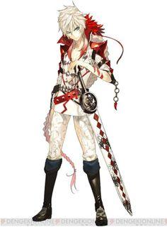 White haired swordman