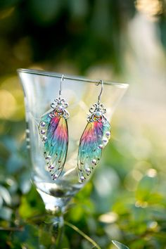 Sprite Fairy Wing Silver earrings by fairystitchfactory on Etsy Fairy Jewelry, Magical Jewelry, Fantasy Jewelry, Cute Jewelry, Jewelry Accessories, Jewelry Necklaces, Jewelry Design, Unique Jewelry, Jewellery