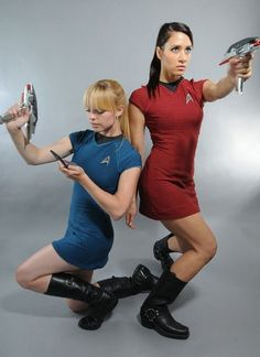 Milynn Sarley, Star Trek cosplay, and many other of my Trek angels. :)