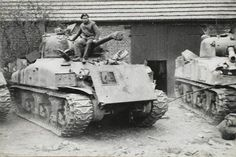 British 44th Royal Tank Regiment up armored M4 Sherman. Veghel 1944.