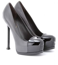 Yves Saint Laurent   Tribtoo 105 Cap Toe Platform Pumps