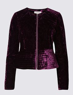 b23af902 Lightly Padded Velvet Jacket. Chaquetas Blazer Para MujeresChaquetas ...