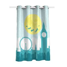 Zoomie Kids This curtain has 8 metal eyelets. High definition digital printing and smooth finish. The length is 180 cm but can be adjusted to a lesser size with the double-sided thermal adhesive vlieseline included. Pleated Curtains, Blackout Curtains, Panel Curtains, Bed Organiser, Pencil Pleat, Room Darkening Curtains, Thermal Curtains, How To Clean Iron, Dcor Design