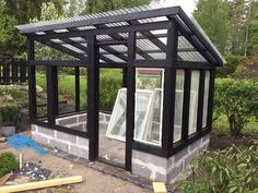 Backyard Greenhouse, Greenhouse Plans, Small Backyard Pools, Backyard Landscaping, Outdoor Garden Rooms, Shed Building Plans, Vegetable Garden Design, Garden Structures, Outdoor Projects