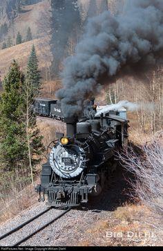 D&RGW 489 Denver & Rio Grande Western Railroad Steam 2-8-2 at Coxo, Colorado by William Diehl