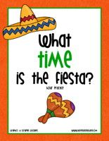 Cinco de Mayo Telling Time Clock Activity – To The Hour:Match the clock pictures to the time cards. Then, check for understanding with the telling time clock worksheets.    Cinco de Mayo Clock Activity – Hour – Cilck Here    Information: Cinco de Mayo worksheet, Cinco de Mayo activity