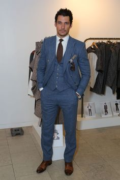 New Menswear Ambassador, David Gandy #ManAboutTown #LCM