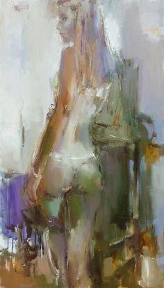 "Nelina Trubach-Moshnikova; Oil, 2013, Painting ""A girl with the wristlet"""
