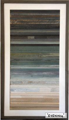 Coastal Reclaimed Wood Art 16 x 28 by RedHouseDesignStudio on Etsy, $250.00