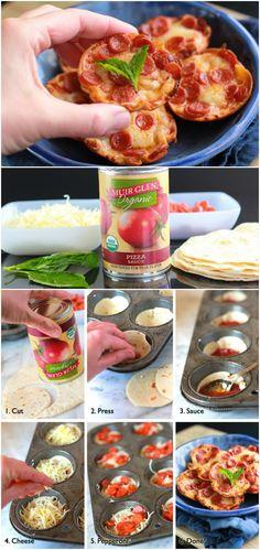Mini Tortilla-Crust Pizzas recipe – from Tablespoon!