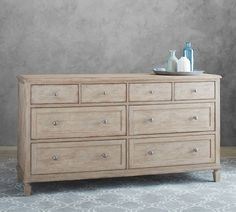 Sausalito White Wash Collection Extra-Wide Dresser