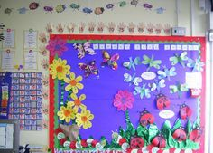 A super Number Bond Garden classroom display photo contribution. Great ideas for your classroom! Reading Garden Classroom, Maths Classroom Displays, Maths Display, Class Displays, School Displays, Math Classroom, Classroom Themes, School Themes, Nursery Display Boards