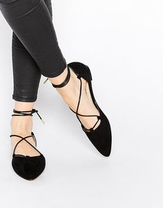 Truffle Collection | Truffle Collection Nicky Ghillie Lace Flat shoes at ASOS