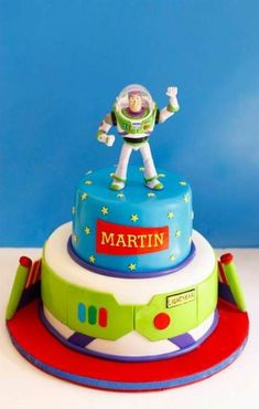 Trendy birthday party ideas toy story buzz lightyear - Toys for years old happy toys Cumple Toy Story, Festa Toy Story, Toy Story Party, Toy Story Birthday Cake, 3rd Birthday Cakes, Birthday Parties, 4th Birthday, Birthday Ideas, Bolo Toy Story